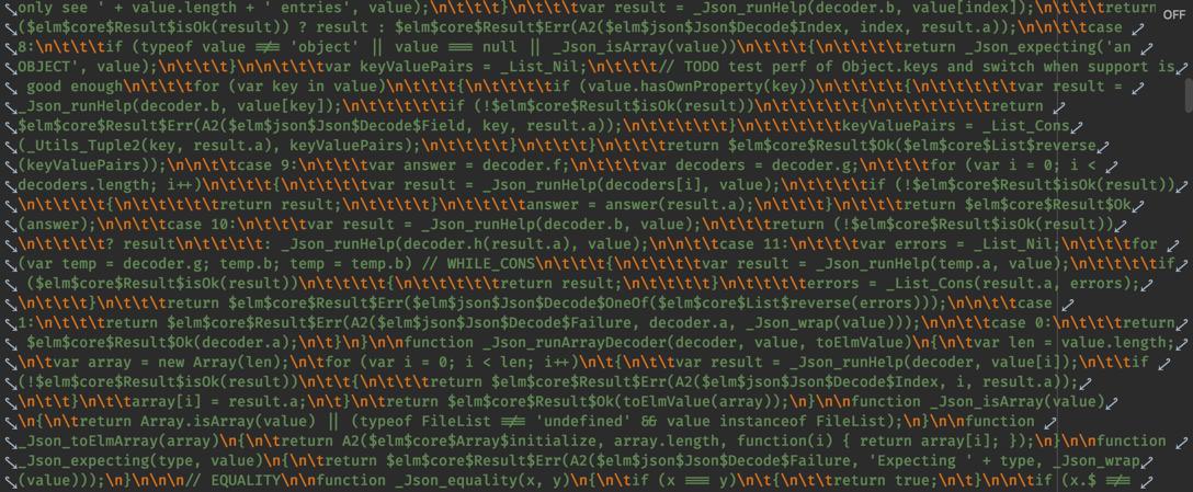 How compiled Elm looks like